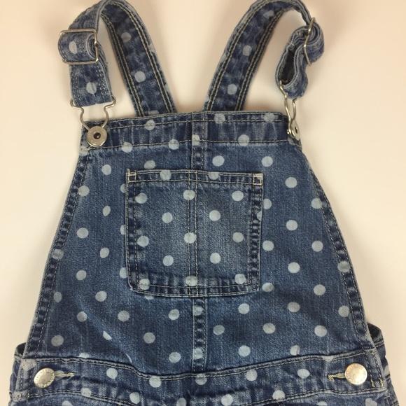 NWT Genuine Kids by OshKosh Polka Dot Blue Jean Shorts Toddler  3T or 5T Cotton